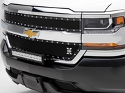 2016-2018 Silverado 6711281 T-REX 1500 X-Metal 2 Pc Main Grille Overlay W/ Small Mesh Black Steel 6711281