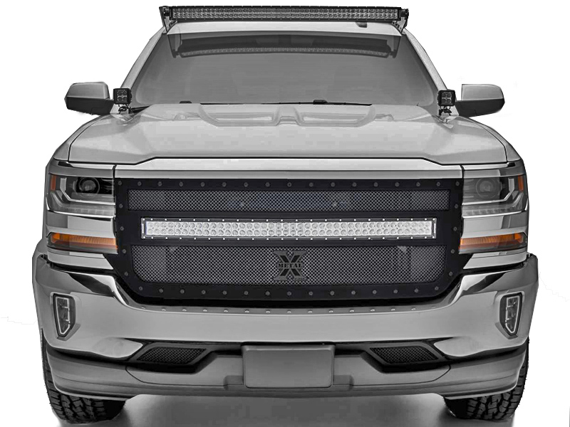 2016 2018 silverado t rex stealth torch series 40 led light bar 2016 2018 silverado t rex stealth torch series 40 led light bar formed mesh main grille mozeypictures Image collections