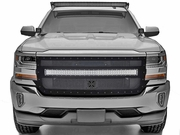 "2016-2018 Silverado T-REX STEALTH Torch Series 40"" LED Light Bar Formed Mesh Main Grille"