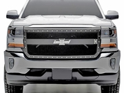 2016-2018 Silverado 1500 X-METAL Series, 1 Bar Design, Black Main Grille Replacement 6711291