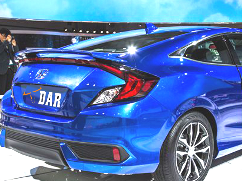 2016 current honda civic 2dr coupe si factory style spoiler. Black Bedroom Furniture Sets. Home Design Ideas