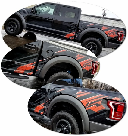 2017-2018 Ford F-150 Raptor Body Side Graphics Kit