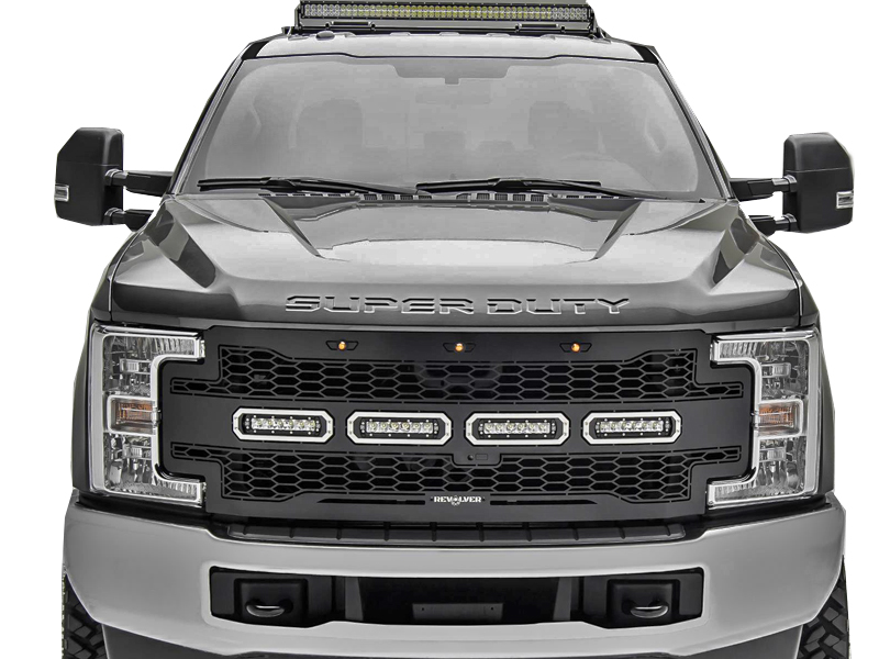 Ford F  Super Duty With Forward Camera Revolver Series Led Replacement Grille