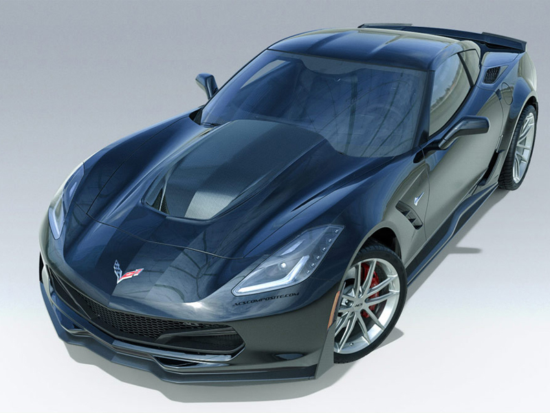 ACS C7 Stingray Coupe Rear Wide Body Conversion, Z06 Scooped