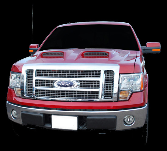 Used 2010 Ford F150: APM Ford F150 G-Force Power Ram Air Hood 2009-2013 811482