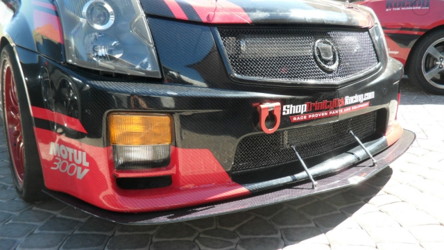 Apr Cadillac Cts V Carbon Fiber Front Bumper Splitter on Cts Rods