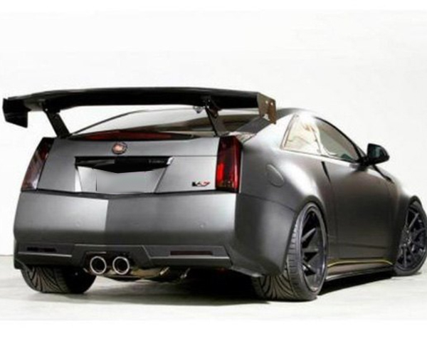 apr cadillac cts v gtc 500 rear wing carbon fiber 2009. Black Bedroom Furniture Sets. Home Design Ideas