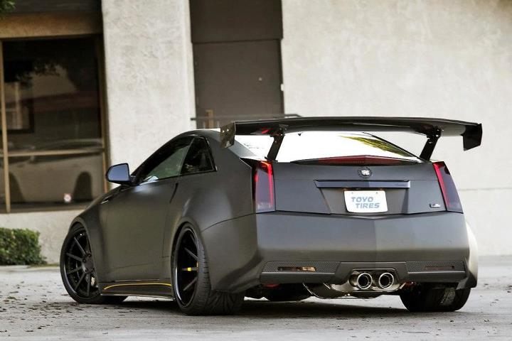 APR Cadillac CTSV GTC500 Rear Wing Carbon Fiber 20092013 AS