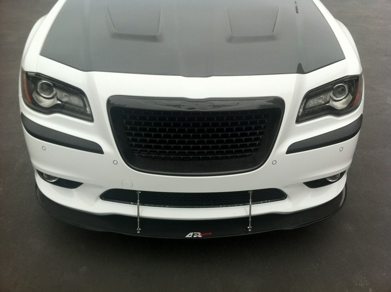 apr chrysler 300c srt8 front bumper splitter 2011 2016 cw. Black Bedroom Furniture Sets. Home Design Ideas