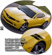 Chevrolet Camaro Le Mans Style Hash Mark Decals 2010-2013