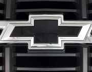 Chevrolet Silverado Painted Bowties Insert Replacements 2014 2015 Black GBA