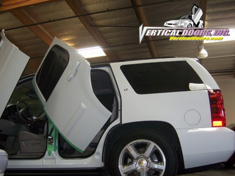 Chevrolet Tahoe Rear Vertical Doors Conversion Kit 2007 2017 4 Jpg