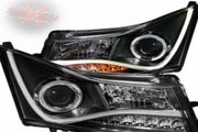 CHEVY CRUZE 11-14 PROJECTOR H.L HALO BLACK CLEAR (CCFL LOW-BROW DESIGN)