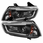 Dodge Charger Projector Black Headlights w/ LED DRL 2011-2014