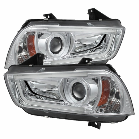 Dodge Charger Projector Chrome Headlights w/ LED DRL 2011-2014