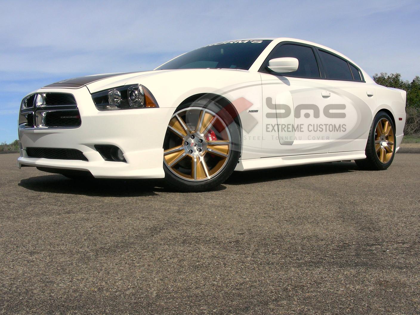 Dodge charger rr style 3 pc urethane spoiler 2011 2014