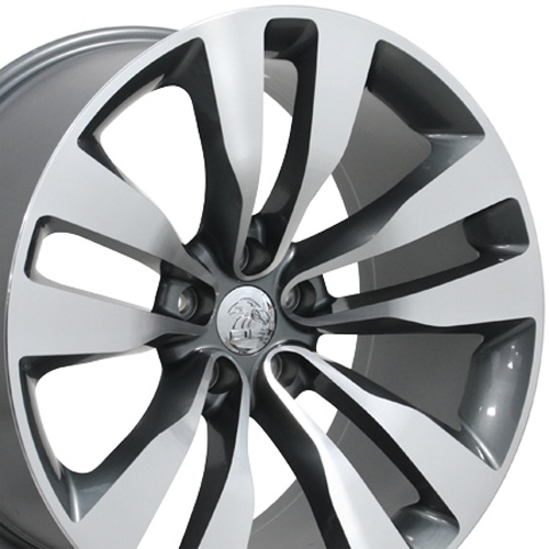 2008 Charger Rt >> Dodge - Charger Wheel - Gunmetal Machined Face 20x10
