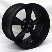 Flat Black Mustang � Bullitt Style Wheels Staggered Set 18x9  18x10