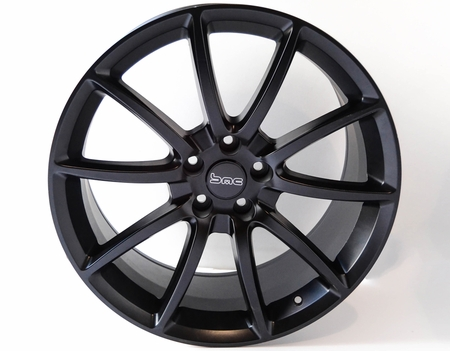 "Ford Mustang Black Mamba 20"" Wheels, Set of 4, Staggered, Satin Black 2005-2017"
