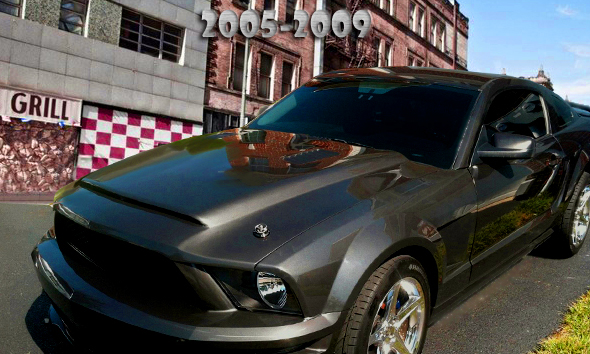 Ford Gt500 Shelby >> Ford Mustang GT500 Black Mamba Hood 2005-2009