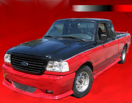 Ford Ranger W Type Vis Complete Body Kit W Roll Pan 1998 2008
