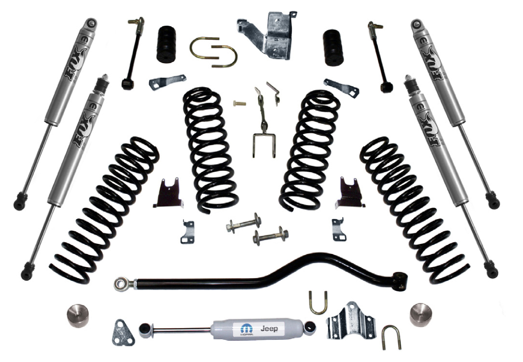 jeep wrangler 2 u0026quot  stage 1 lift kit w   performance shocks