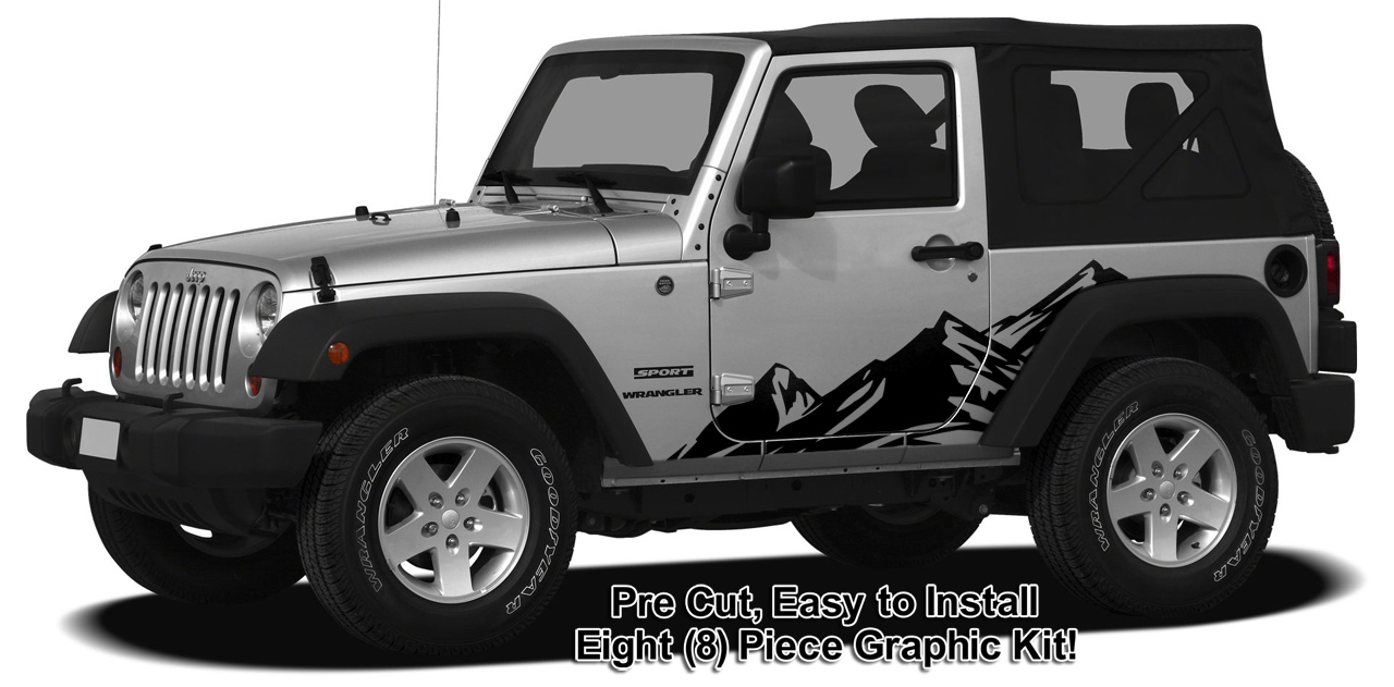 Jeep Wrangler Body Graphics Jeep Wrangler Mountain Range