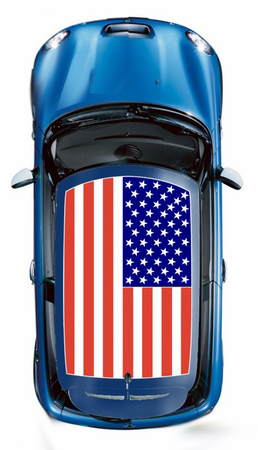 Mini Cooper United States Flag Roof Graphic Kit 1 2002 2017