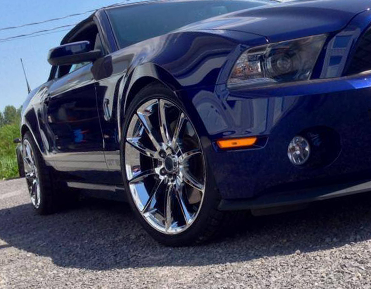 Mustang Gt500 Style Chrome 20inch Wheels Staggered Set 2005 2018