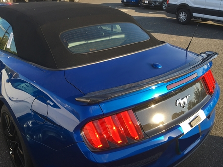 2015-2020 Mustang Convertible Track Pack Style Spoiler Carbon Fiber
