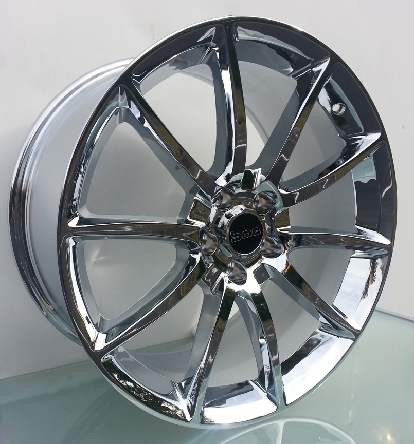 Mustang GT500 Style Chrome 20inch Wheels Staggered Set