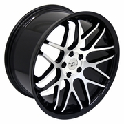 Mustang LRZ Black & Mirror Combo 20x8.5  Wheels