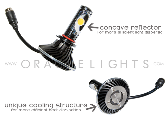 oracle h11 led headlight replacement bulbs 5218