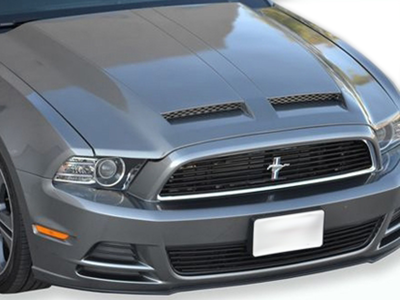 rk sport ford mustang gt v6 ram air hood 2013 2014 18015000. Black Bedroom Furniture Sets. Home Design Ideas