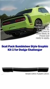 Scat Pack Bumblebee Style Graphic Kit 1 for Dodge Challenger