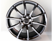 "Staggered 20"" Black Mamba Black Chrome Mustang Wheels 2005-2018, Set of 4"