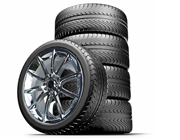 "Staggered 20"" Black Mamba Mustang Wheels + Tires Package 2005-2017, Set of 4"