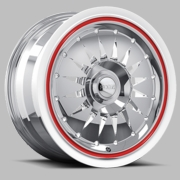 Stardust - FR02 Chrome with Red Pinstripe