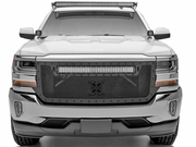 T-REX Chevrolet Silverado STEALTH Torch Series 30 LED Light Bar Formed Mesh Main Grille