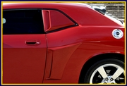 Xenon Dodge Challenger Side Quarter Window Scoops Kit 2008-2014