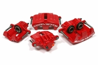 05 - 13 C6 Powder Coated Brake Calipers: Black, Red or Yellow