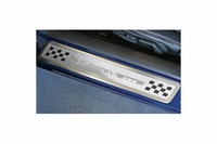 "05-13 GM Door Sill Protectors ""Crossed Flag & Checkerboard"""