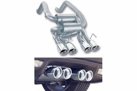 "09 - 13 Borla ""Stinger II"" Exhaust System w/Quad Round Tips"