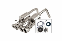 "09-13 w/o NPP B&B Fusion Exhaust System - 4"" Round Tips"