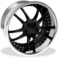 2010-2011 Camaro 947 WCC Forged Wheels (Set) : Black Face with Chrome Lip