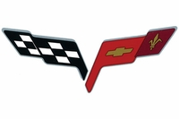 "6"" X 3"" C6 Corvette ""Cross Flags"" Decal"