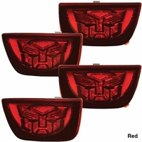 Camaro LED Taillights with Transformers Logo - Red