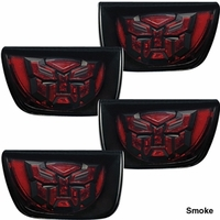Camaro LED Taillights with Transformers Logo - Smoke
