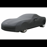 Corvette Car Cover - GM Dust Cover with Grand Sport Logo - Black(Indoor): 2010-2013