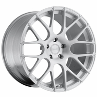 Corvette Custom Wheels - WCC 737 Monobloc Forged Series (Set) : Silver Brushed